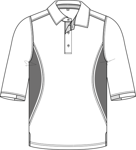 Poloshirt Sporty 3/4-Arm